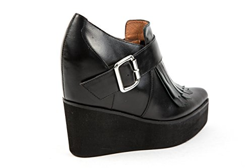 Jeffrey Campbell Damen Keilstiefeletten Ankle Boots Fransen Gr. 37 Schwarz