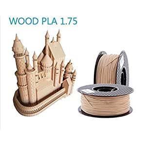 Tonglingusl wood filament 1.75mm for 3d printer wooden effect 3d printing material plastic 3d consumable material like silk (color : 100g wooden, size : free)