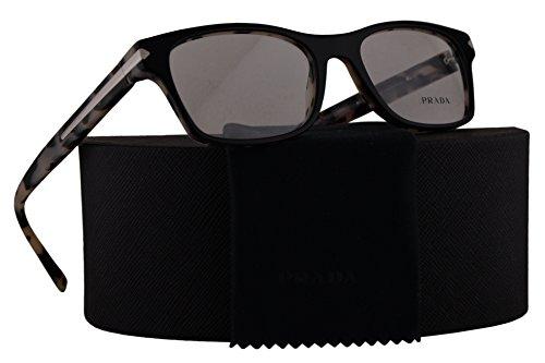 Prada Journal PR16SV Eyeglasses 54-18-140 Top Black With White Havana w/Demo Clear Lens ROK1O1 VPR16S VPR 16S PR - Sunglasses Black White Prada And