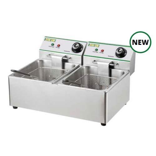 Freidora eléctrica de sobremesa 8 + 8 litros cm 55x41x33 RS9644 ...