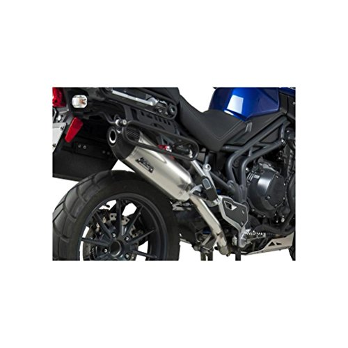 13 TRIUMPH TIGER12XC: Yoshimura RS-4 Slip-On Exhaust (Race/Stainless Steel With Carbon Fiber End -