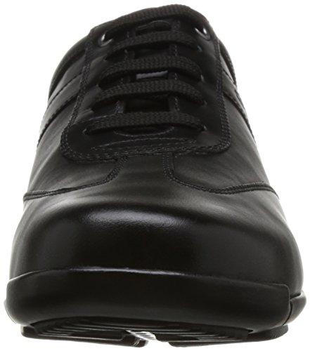 GEOX U Edgware B Véritable Sneaker en Cuir Pour Hommes Noir U743BB 043BC C9999