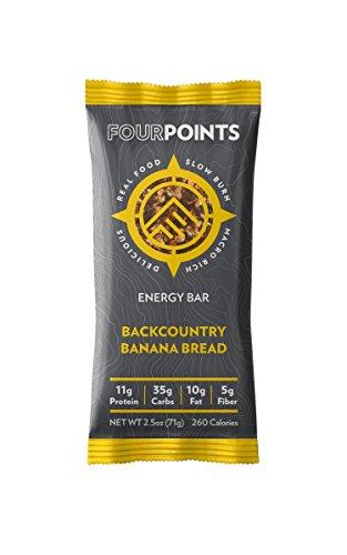 Fourpoints Backcountry Banana Bread Bar – Box of 12 – Backcountry Banana Bread, Box of 12
