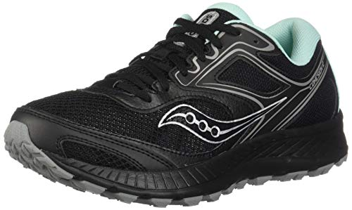 Saucony Women's VERSAFOAM Cohesion TR12 Trail Running Shoe, Black/Teal, 5 W US (Wolverine Trail Runner)