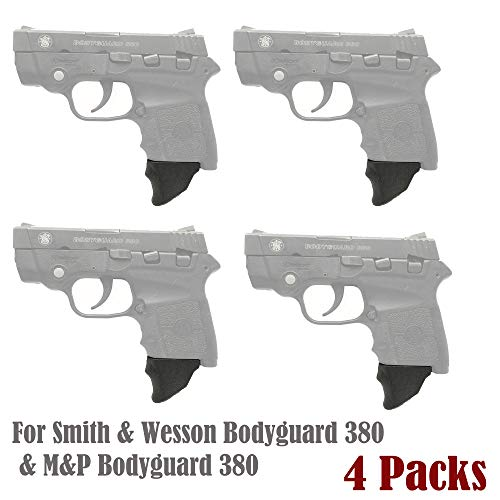 E-ONSALE Pack of 4 Grip Extensions Fits Smith & Wesson Bodyguard 380 & M&P Bodyguard 380 (M380-XL/ 4PCS)