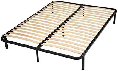 Générique conforkit somier a + Patas de Acero 160 x 200 cm – Negro