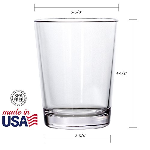 Bistro 15-ounce Premium Quality Clear Plastic Tumblers | set of 6 by US Acrylic (Image #2)
