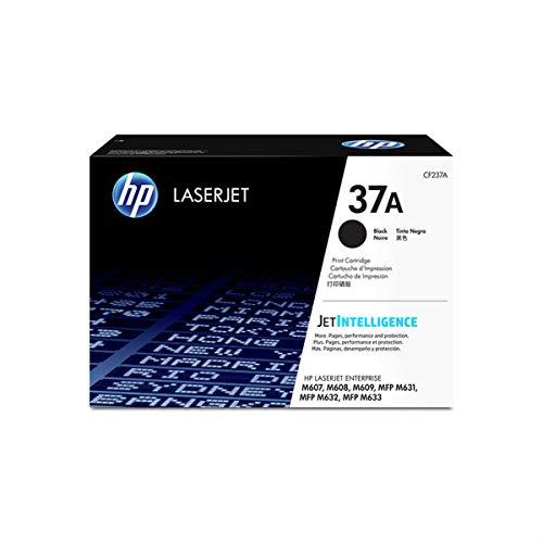 HP 37A Black Toner Cartridge (CF237A) for HP LaserJet Enterprise M607 M608 M609 M631 M632 M633 ()