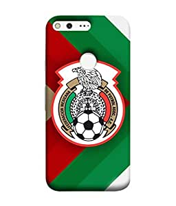 ColorKing Football Mexico 11 Multicolor shell case cover for Google Pixel