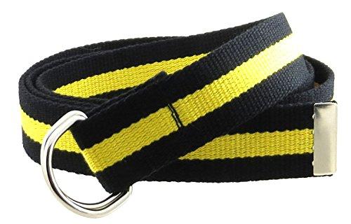 Canvas Web Belt D-Ring Buckle 1.25