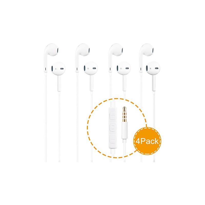 Headphones, 4Pack Earbuds Earphones Buil