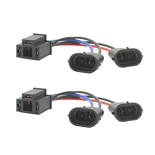 HoldCY H4 to H9/H11 Wire Harness Adapter - Hi/Lo Dual Beam Headlight on