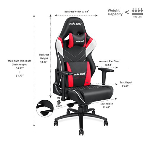 Large Size Big And Tall 400lb Gaming Chair Anda Seat