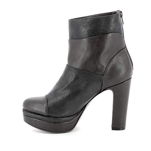 Scarpe Oscuro Tacones amp;scarpe Cm By Marrón Altas Botines Con Multimateriales 11 Alesya OnRBHgwqn