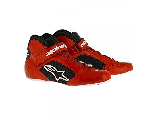 Alpinestars 2712013-312-7 Tech 1-K Shoes, Red/Black/White, Size 7 by Alpinestars