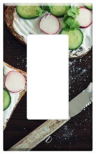 Rocker/GFCI - Sandwich Cucumber Radish Yogurt Food Bread 1 ()