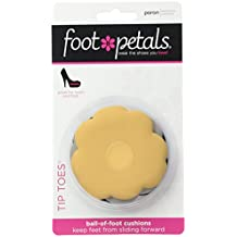Foot Petals Black/Buttercup/Silver Combo Tip Toes, Triple Pack