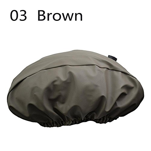 PU Leather Winch Cover Waterproof Dust-proof UV Mildew-Resistant Winch Protective Cover Waterproof Soft Winch Dust Cover Driver Recovery W/Sewn-In Elastic Band by RUNMIND
