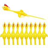 Rubber Chicken Slingshot Chicken Flickin Chicken Game Flying Toys Sticky Funny Rubber Chickens Slingshot Chicken Dog Toy The Office Pranks Easter Chicks Turkey Toys Gifts for Kids Adults 10 PCS