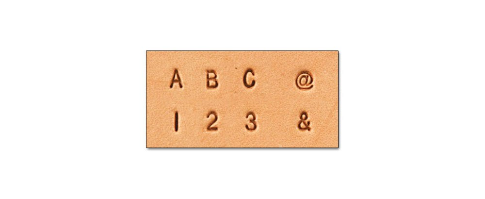 Tandy Leather Craftool� 1/8'' (3 mm) Alphabet & Number Set 8137-10 by Tandy Leather
