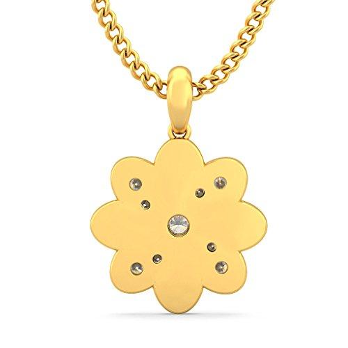 Or jaune 18K 0,23carat au total Round-cut-diamond (IJ | SI) Pendentif