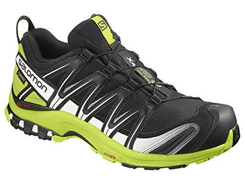 Salomon Men's XA Pro 3D GTX Trail Shoes Black/Lime Green/White ()