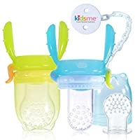 Baby Double Handle Self-feeder Nutrition Food Feeder Silicone Fresh Food Feed...