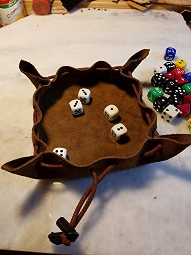Suede Leather Dice Tray/Dice Bag