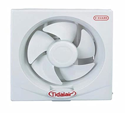 V Guard Tidal Air Shutter Type Exhaust Fan White Amazon In Home Kitchen