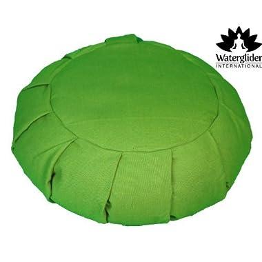 Zafu Yoga Meditation Pillow with USA Buckwheat Fill, Certified Organic Cotton- 6 Colors (Grass)
