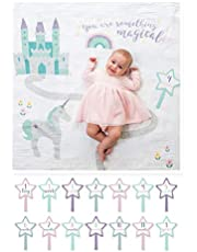 lulujo Baby Baby's First Year Milestone Blanket and Cards Set