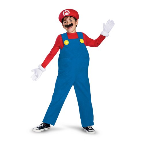 Mario and Luigi Child Costume Mario (red & blue) - -