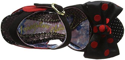 Sandalias N' Mujer Negro Black Punta Irregular Abierta con Wash A Choice Dry Ipqwn46a