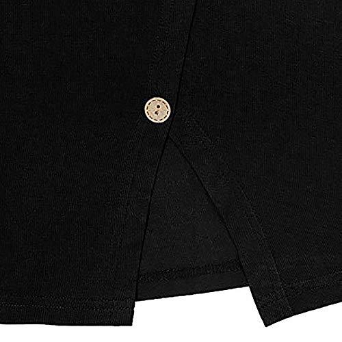 Pull Tops Femme Manches Blouse Noir Taille Chemisier Chemisier Grande Manche Femmes Plus à Rond Shirt Col Longue Longues Taille r4rqx6O