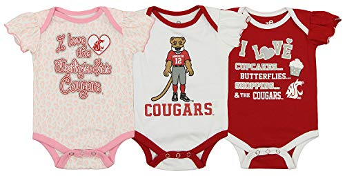 - Outerstuff NCAA Newborn Infant 3 Piece Creeper Set, Washington State Cougars 3-6 Months