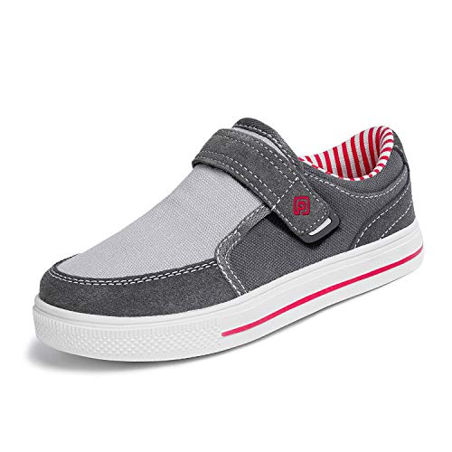 - DREAM PAIRS Toddler Boys' 160479-K Grey Red School Loafers Sneakers Shoes Size 9 M US Toddler