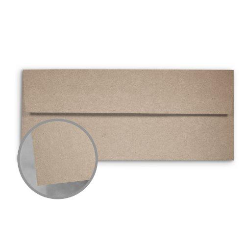 - Glama Kraft Grey/Grey Envelopes - No. 10 Square Flap (4 1/8 x 9 1/2) 68 lb Text Kraft 100% Recycled 500 per Box