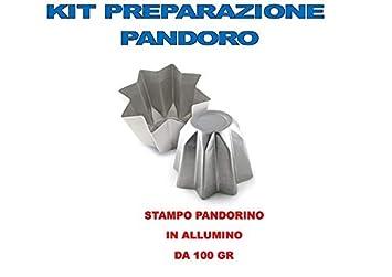 Molde Pandoro Artesanal Navidad - Kit N ° 2 CDC (1 molde Pandorino de 100 g): Amazon.es: Hogar