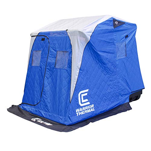 Warrior X Thermal - 2 Man w/Bench, Grey sled, Auger Rack, Travel Cover