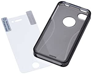 AmazonBasics Protective TPU Case with Screen Protector for AT&T and Verizon iPhone 4 and iPhone 4S (Smoke)