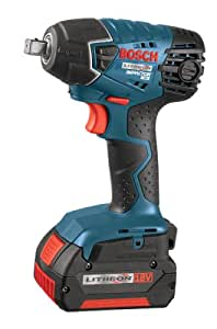 Bosch IWH181-01 18-Volt Lithium-Ion 3/8-Inch Square Drive Compact Impact Wrench Kit with 2 Batteries, Charger and Case