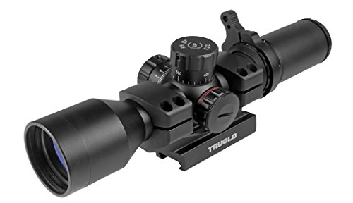TRU-BRITE 30 Series 3-9 X 24mm Dual-Color Illuminated-Reticle Rifle Scope with Mount