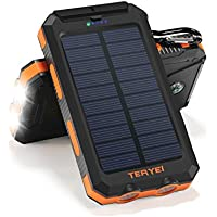 Teryei T1 15000mAh Portable Power Bank with 4 USB Charging Ports (Several Colors)