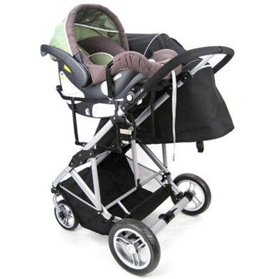 StrollAir Universal Car Seat Adapter High for My Duo Stroller, Black