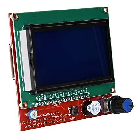 Tangxi 3D Printer CNC Kit with CNC Guard+A4988 Stepper Motor Driver+UNO R3 Board+Heatsink+Mega 2560 R3+LCD Intelligent Controller,CNC Kit for Kuman UNO R3 Arduino GRBL