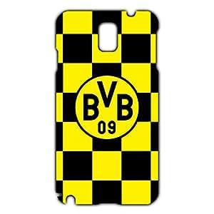 Borussia Dortmund Logo Phone Case for Samsung Galaxy Note 3 3D Black Slip On Cover