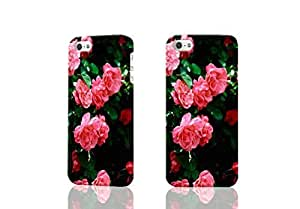MagicSky Plastic + Silicone Tuff Dual Layer Hybrid Rose Flower On Green Diy For Iphone 4/4s Case Cover 1 PaRetail PackagiSky Blue