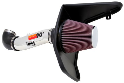 12-15 Chevy Camaro 3.6L V6 K&N Typhoon Cold Air Intake Kit + Filter Polished 69-4523TP 13