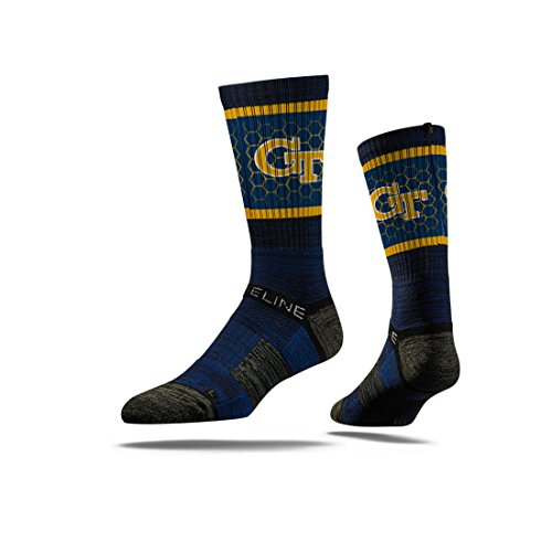 Strideline NCAA Georgia Tech Yellow Jackets Premium Athletic Crew Socks, Navy, One Size