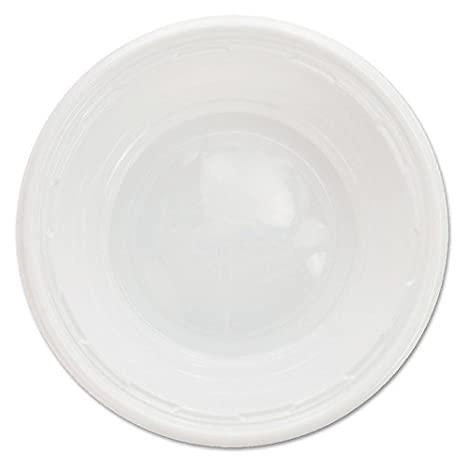DCC5BWWF - Plastic Bowls, 5-6 Ounces, White, Round, 125/pack